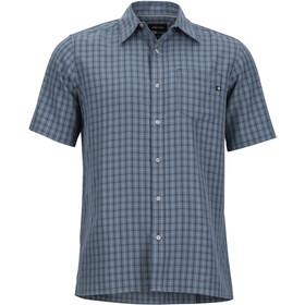 Marmot Eldridge Miehet Lyhythihainen paita , harmaa